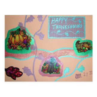 Thanksgving collage postcard