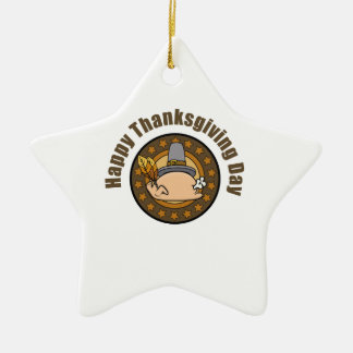 thanksgvings turkey day ceramic ornament
