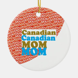 THANKSMOM Canadian Mothersday MOM lowprice GIFTS Double-Sided Ceramic Round Christmas Ornament
