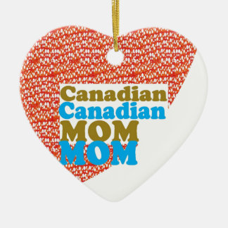THANKSMOM Canadian Mothersday MOM lowprice GIFTS Double-Sided Heart Ceramic Christmas Ornament