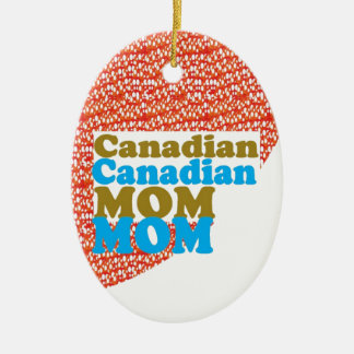 THANKSMOM Canadian Mothersday MOM lowprice GIFTS Double-Sided Oval Ceramic Christmas Ornament