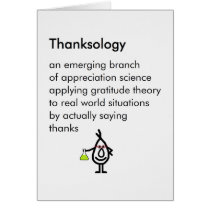 Thanksology - a funny thank you poem