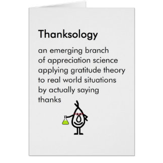 Thanksology - a funny thank you poem card