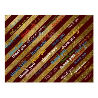 thankyou color pattern postcard