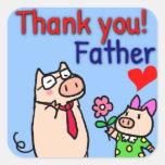 Thankyou! Father 正方形シール・ステッカー