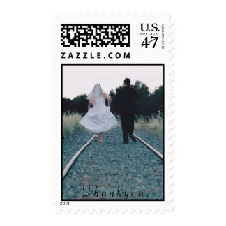 Thankyou postage stamp - wedding