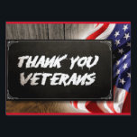 """Thankyou Vets Medium, 18&quot; x 24&quot; Yard Sign<br><div class=""""desc"""">Make your announcement known with one of our amazing yard sign designs!</div>"""