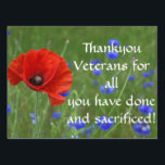 "Thankyou vets Poppy Lawn Sign<br><div class=""desc"">Make your announcement known with one of our amazing yard sale signs!</div>"