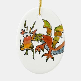 Thar Be Dragons Ceramic Ornament