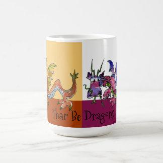 Thar Be Dragons Coffee Mug