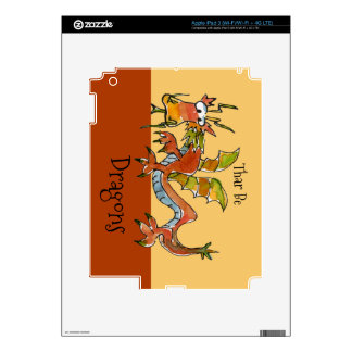Thar Be Dragons Decals For iPad 3