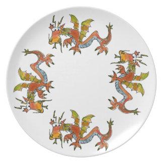 Thar Be Dragons Dinner Plate