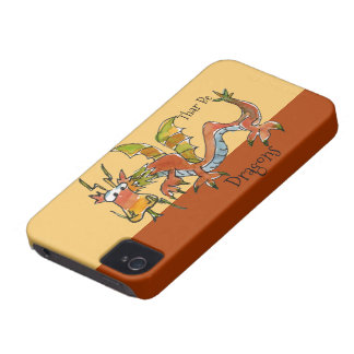 Thar Be Dragons iPhone 4 Case-Mate Case