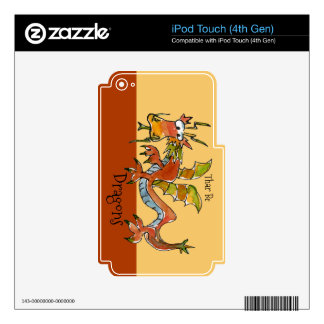 Thar Be Dragons iPod Touch 4G Skins