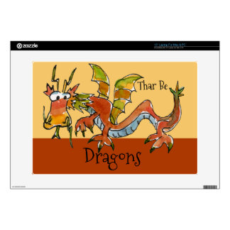 Thar Be Dragons Laptop Skins