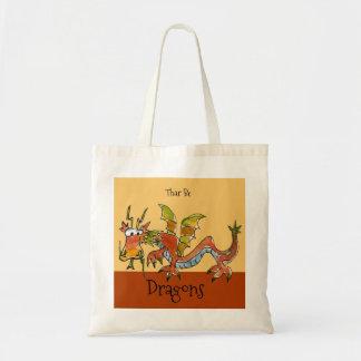 Thar Be Dragons Tote Bag