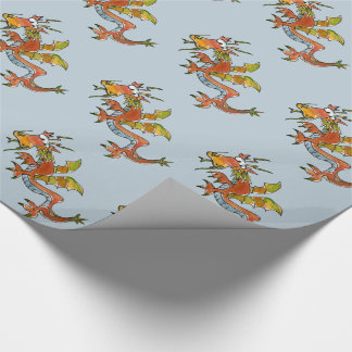 Thar Be Dragons Wrapping Paper