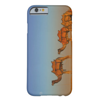 Thar desert, Rajasthan India. Camels along the Barely There iPhone 6 Case