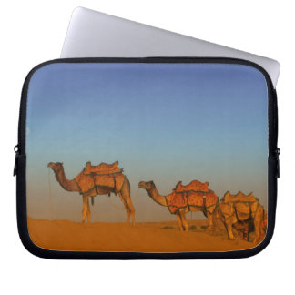 Thar desert, Rajasthan India. Camels along the Laptop Sleeve