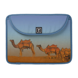 Thar desert, Rajasthan India. Camels along the Sleeve For MacBook Pro