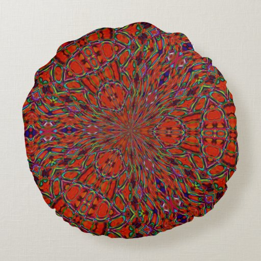 That 60 s hippie round pillow