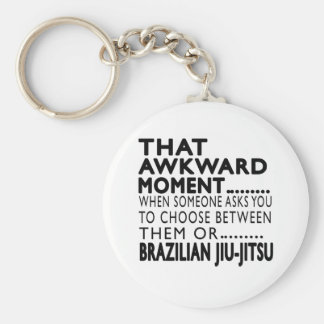 That Awkward Moment Brazilian Jiu-Jitsu Designs Basic Round Button Keychain