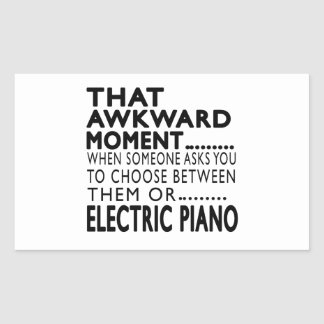 That Awkward Moment Electric Piano Designs Rectangular Stickers