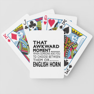 That Awkward Moment English Horn Designs Bicycle Poker Deck