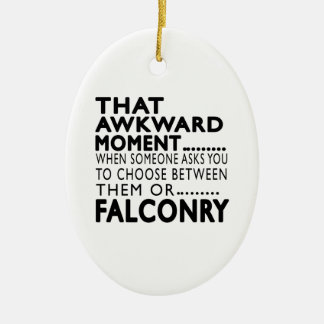 That Awkward Moment Falconry Designs Double-Sided Oval Ceramic Christmas Ornament