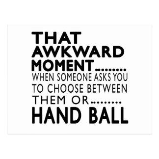 That Awkward Moment Hand Ball Designs Postcard