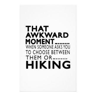 That Awkward Moment Hiking Designs Customized Stationery