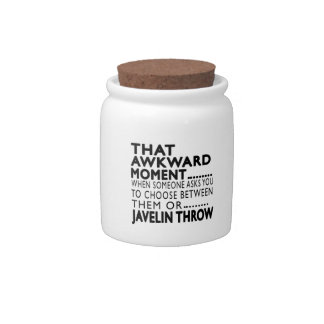 That Awkward Moment Javelin throw Designs Candy Jar