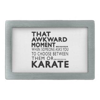 That Awkward Moment Karate Designs Rectangular Belt Buckles