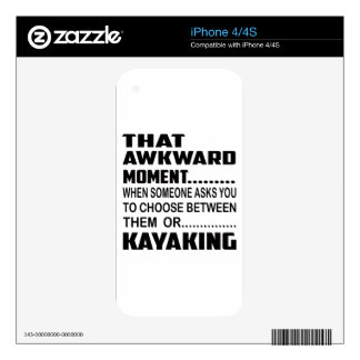 That awkward moment Kayaking. Skins For The iPhone 4