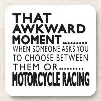 That Awkward Moment MOTORCYCLE RACING Designs Beverage Coasters