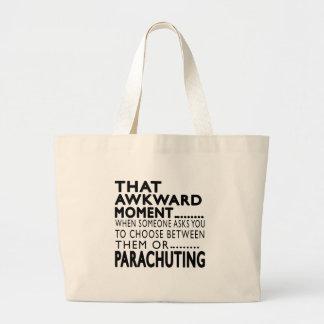 That Awkward Moment Parachuting Designs Canvas Bag