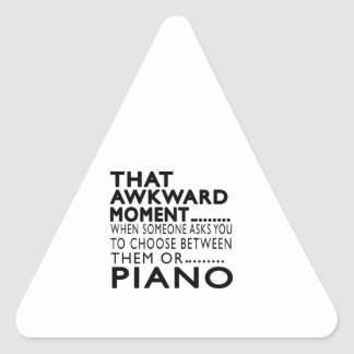 That Awkward Moment Piano Designs Triangle Sticker