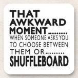 That Awkward Moment Shuffleboard Designs Coaster