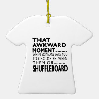 That Awkward Moment Shuffleboard Designs Double-Sided T-Shirt Ceramic Christmas Ornament