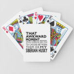 That Awkward Moment Siberian Husky Bicycle Card Deck