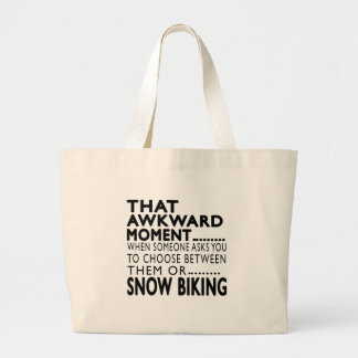 That Awkward Moment Snow Biking Designs Tote Bags