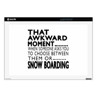 """That Awkward Moment Snow Boarding Designs Skin For 17"""" Laptop"""
