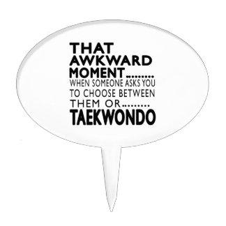 That Awkward Moment Taekwondo Designs Cake Pick