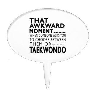 That Awkward Moment Taekwondo Designs Cake Picks