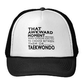 That Awkward Moment Taekwondo Designs Trucker Hats