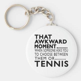 That Awkward Moment Tennis Designs Basic Round Button Keychain