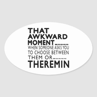 That Awkward Moment Theremin Designs Oval Sticker