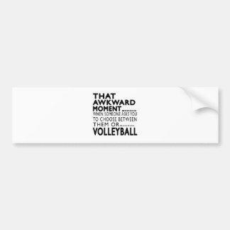 That Awkward Moment Volleyball Designs Car Bumper Sticker