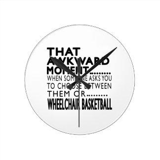 That Awkward Moment Wheelchair Basketball Designs Wallclocks