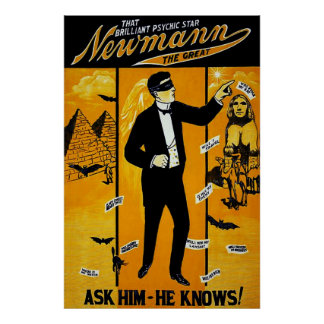 That Brilliant Psychic Star, Newmann the Great. Poster
